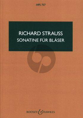 Strauss Sonatina No. 1 in F o. Op. AV 135 16 Wind Instruments (Aus der Werkstatt eines Invaliden) (Study Score)