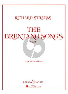 Strauss Brentano Songs Op.68 (High Voice)
