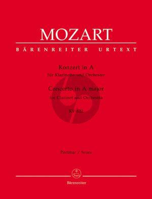 Mozart Konzert KV 622 Klarinette-Orchester Partitur (Franz Giegling)