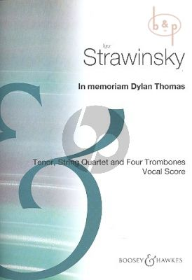 In Memoriam Dylan Thomas