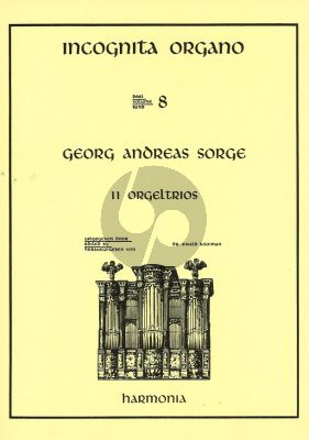 Sorge 11 Orgeltrios (Incognito Organo 8)