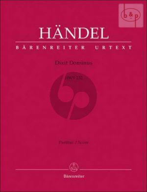 Dixit Dominus HWV 232 SSATB soli-SSATB-Strings-Organ) Full Score (lat.)