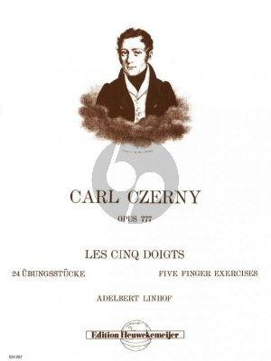 Les Cinq Doigts Op.777 24 Ubungsstucke Piano Linhof