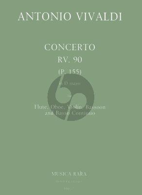 Concerto D-major RV 90 (P.155) Fl.-Ob.-Vi.-Bsn.-Bc