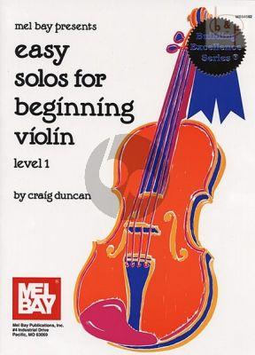 Easy Solos for Beginning Violin Level 1