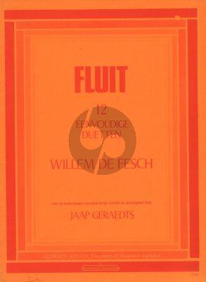 de Fesch 12 Eenvoudige Duetten (2 Flutes) (Jaap Geraedts) (Alsbach)
