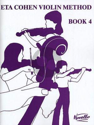 Cohen Violin Method Vol.4 (Student's Book incl. Piano Accompaniments)