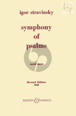 Symphony of Psalms (Mixed Choir-Orchestra) (Vocalscore)