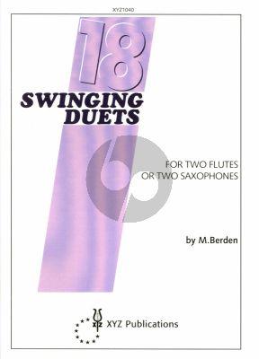 Berrden 18 Swinging Duets for 2 Flutes or 2 Saxophones