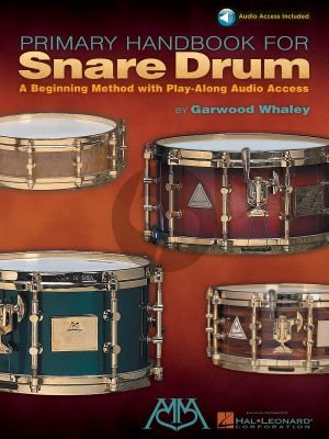 Whaley Primary Handbook for Snaredrum (Book with Audio online)