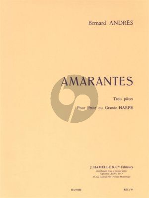 Andres Amarantes pour Harpe (3 Pieces) (interm.level)