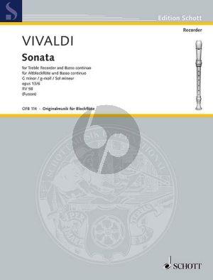 Sonate g-moll RV 458 (Op.13A No.6) Altblockfl.-Bc