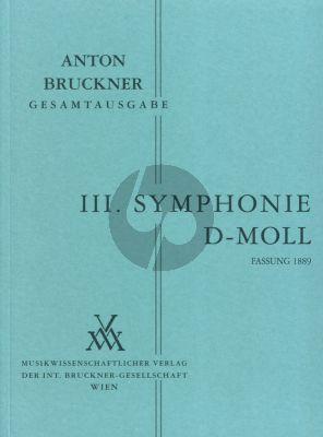 Symphonie No.3 d-moll 3.Fassung 1889 Studienpartitur