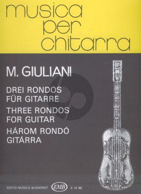 Giuliani 3 Rondos Guitar (edited by Daniel Benkő)