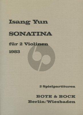 Yun Sonatine für 2 Violinen