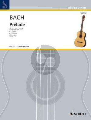Bach Prelude a-moll BWV 997 Gitarre (Andres Segovia)