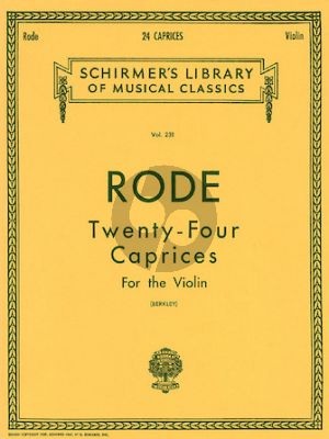 Rode 24 Caprices for Violin
