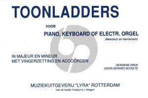 Scholte Toonladders Piano (of keyboard en electr. orgel Melodisch of Harmonisch)