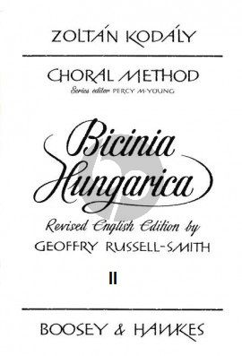 Kodaly Bicinia Hungarica Vol.2 60 Progressive two-part Songs (English Edition) (edited by Geoffrey Russell-Smith)