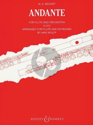 Mozart Andante C-major KV 315 Flute-Piano (edited by Max Wolff)