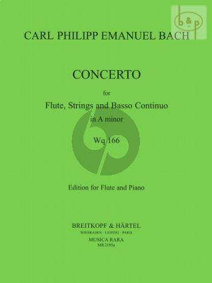 Concerto a-minor WQ.166[H.431] (Flute-Str.-Bc) (piano red.)