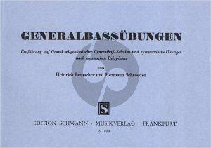 Generalbassubungen. Einführung auf Grund zeitgenössischer Generalbaß-Schulen und systematische Übungen nach klassischen Beispielen