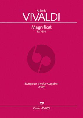 Vivaldi Magnificat RV 610 SSAT Soli-SATB-Orchestra (Score) (Version 1 + Version 2) (Graulich)