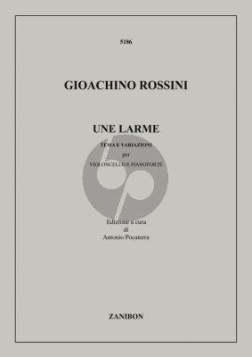 Rossini Une Larme (Tema e Variazioni) Violoncello-Piano