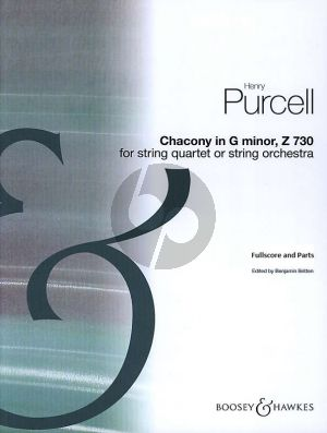 Purcell Chaconne G-Minor (String Quartet or String Orchestra Score and Parts) (arr. Benjamin Britten)