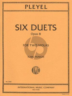 Pleyel 6 Duets Op.8 2 Violas (edited by Carl Paasch)