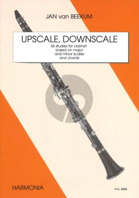 Beekum Upscale, Downscale Klarinet (26 Studies based on Major and Minor Scales and Chords)