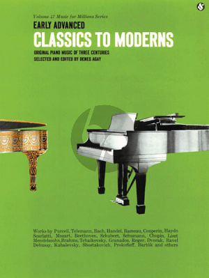 Classics to Moderns early advanced piano