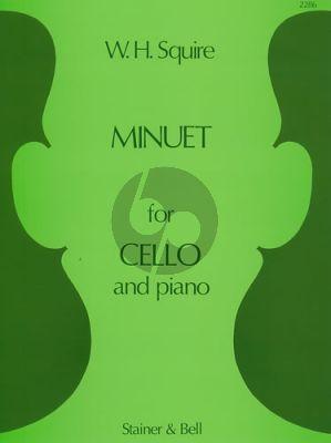 Squire Minuet Op.19 No.3 Violoncello-Piano
