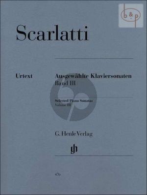 Scarlatti Ausgewahlte Sonaten Vol.3 Klavier (edited by Bengt Johnssohn)
