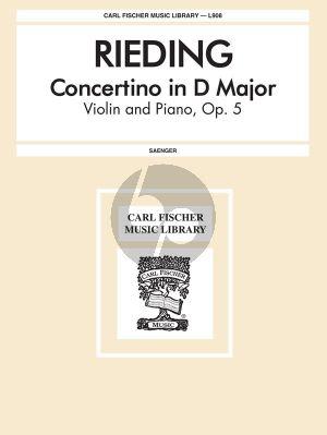 Rieding Concertino D-major Opus 5 Violin and Piano (Gustave Saenger)
