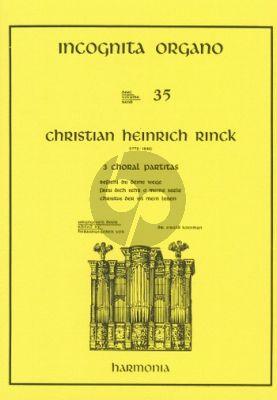 3 Choralpartitas Orgel