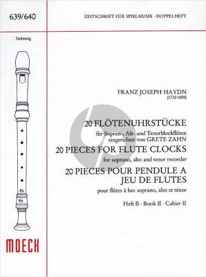 Haydn 20 Flötenuhrstucke Vol.2 3 Blockfl. (SAT) (arr. Grete Zahn)