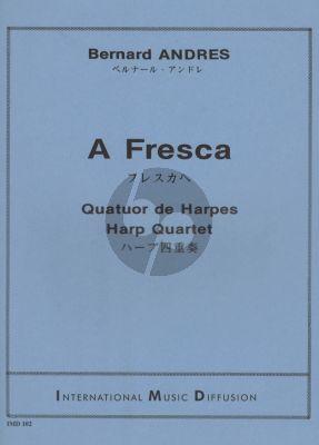 Andres A Fresca 4 Harpes (Score/Parts)