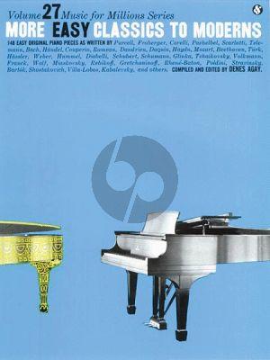 More Easy Classics to Moderns Piano solo