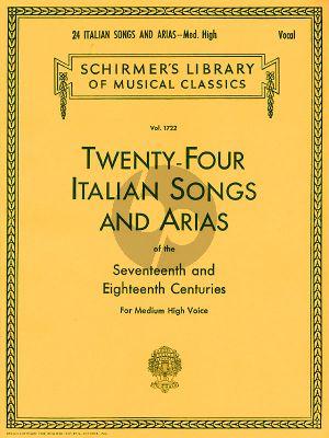 24 Italian Songs & Arias of the 17th & 18th Century Medium High