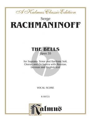 Rachmaninoff The Bells Op. 35 Soli-Choir and Orchestra Vocal Score (Russian, German and English text)