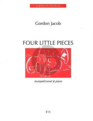 Jacob Four Little Pieces for Trumpet / Cornet and Piano