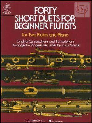40 Short Duets for Beginning flautists