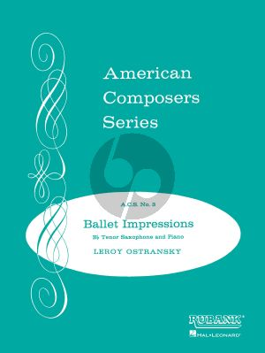 Ostransky Ballet Impressions for Tenor Saxophone and Piano (grade 5)