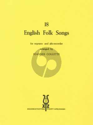 18 English Folksongs Descant- and Treble Recorder