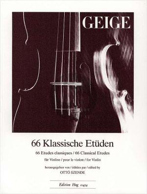 66 Klassische Etuden für Violine (Otto Szende)