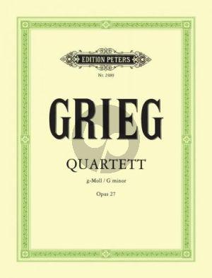 Grieg Quartett g-moll Op.27 2 Vi.-Va.-Vc. (Stimmen)