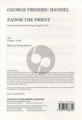 Handel Zadok the Priest (Coronation Anthem for King George)