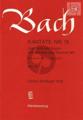 Bach Kantate No.18 BWV 18 - Gleichwie der Regen und Schnee vom Himmel fallt (For as the rain cometh down) (Deutsch/Englisch) (KA)