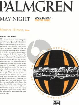 Palmgren May Night Op.27 / 4 Piano solo (edited by Maurice Hinson)